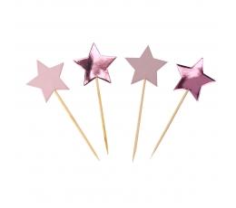 """Irbulīši dekorācijas """"Rozā zvaigznītes"""" (20 gab)"""