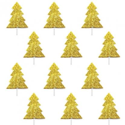 """Irbulīši dekorācijas """"Zelta eglītes"""" (12 gab)"""
