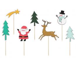 """Irbulīši-dekorācijas """"Ziemassvētki"""" (7 gab)"""