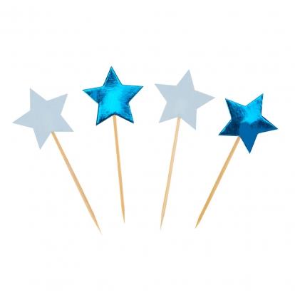 """Irbulīši dekorācijas """"Zilas zvaigznītes"""" (20 gab)"""