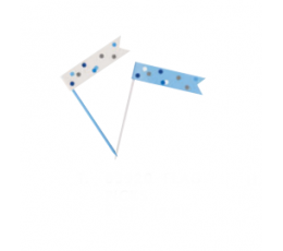 Irbulīši-karodziņi, zili -pelēki (6 gab)