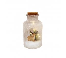 """Izgaismota dekoratīvā pudele """"Briedis"""" (10 x 19,5cm)"""