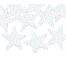 """Izgriezumi-dekorācijas """"Perlamutra zvaigznītes"""", baltas (8 gab/5 cm)"""