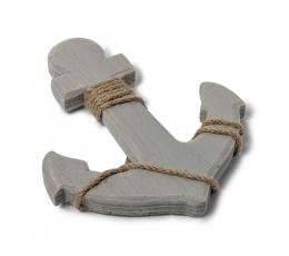 Jūras enkurs, koka (14 x 12 cm)