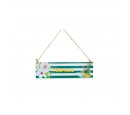"""Karināmā dekorācija """"Tropical"""", koka (34 x 10 cm)"""