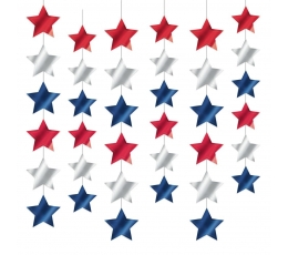 """Karināmās dekorācijas """"Americano"""" (6 gab/2,13 m)"""