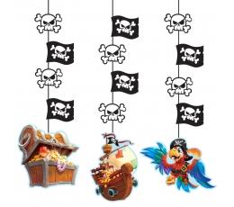 """Karināmas dekorācijas """"Jūras pirāti"""" (3 gab)"""