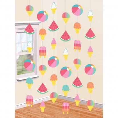 """Karināmas dekorācijas """"Saldējums"""" (6 gab/2,13 m)"""