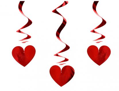 """Karināmas dekorācijas """"Sarkanas sirsniņas"""" (3 gab)"""