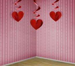 """Karināmas dekorācijas """"Sarkanas sirsniņas"""" (3 gab) 1"""