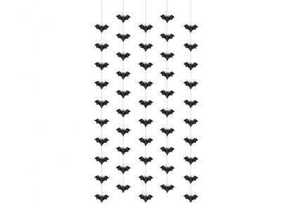 """Karināmas dekorācijas """"Sikspārņi"""" (5 gab/ 1 m)"""