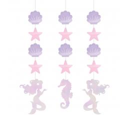 """Karināmas dekorācijas """"Spīdīga nāriņa"""" (3 gab)"""