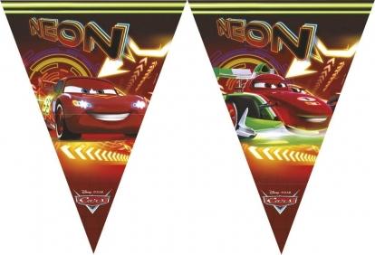 """Karodziņu virtene """"Cars Neon"""""""