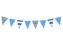Karodziņu virtene, zila strīpaina (1,3 m)