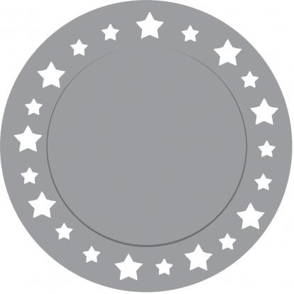 Kartona palitkņi, sudraba zvaigznītes  (6 gab/33 cm)
