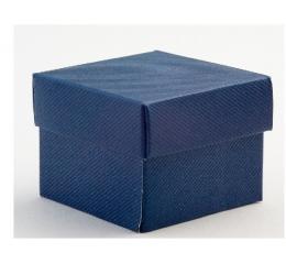 Kaste - Blu Scia kvadrātaina/ zila (1 gab. / 140x140x110 mm.)