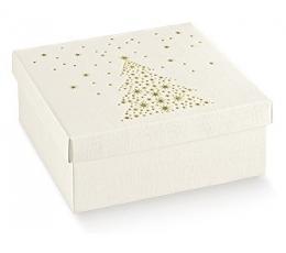 Kaste - kvadrātaina, ar Ziemassvētku eglīti (1 gab./300*300*240 mm.)