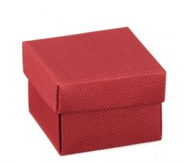 Kaste - kvadrātveida / bordo (1 gab. / 50x50x35 mm.)