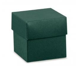Kaste - kvadrātveida / zaļa (1 gab. / 50x50x50 mm)