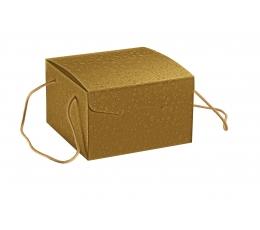Kastīte ar rokturiem, zelta  (24,5X24,5X15 cm)