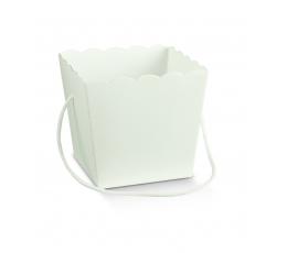 Kastīte bez vāka, balta (10X10X14,5 cm)