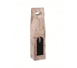 Kastīte pudelei, koka imitācija (9X9X38,5 cm)