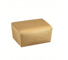 Kastīte saldumiem, zelta (15,5X10X7 cm)