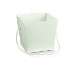 Kastīte uzkodām, balta (15X15X18 cm)