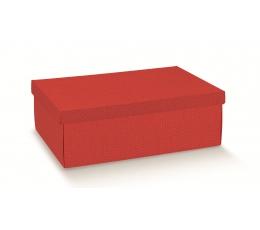 Kastītes ar vāku, sarkana (34X25X12 cm)