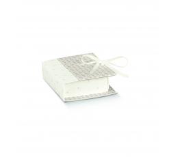 Kastītes-grāmatiņa, pilkai balta (7x6x2,5cm)