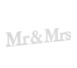 "Koka galda dekorācija ""Mr & Mrs"" (9,5 x 45 cm)"