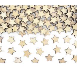 """Koka galda konfettī """"Zvaigznītes"""" (50 gab/2 cm)"""