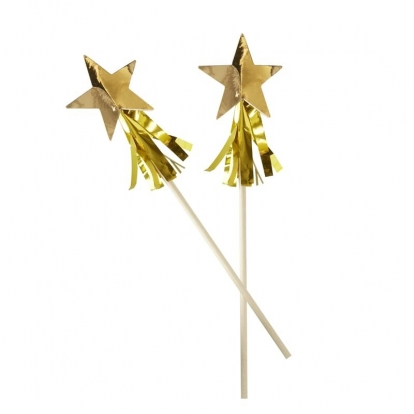 """Kokteiļa kociņi """"Zelta zvaigznītes"""" (15 gab)"""