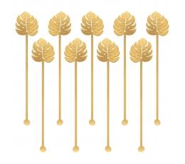 "Kokteiļu kociņi ""Zelta lapas"" (12 gab/ 19 cm)"