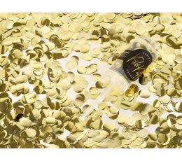 Konfettī plaukšķene, maza zelta