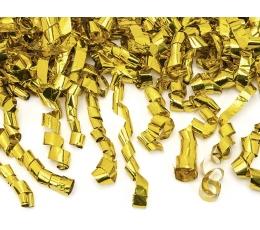"""Konfettī plaukšķene """"Zelta ruļļi"""" (60 cm)"""