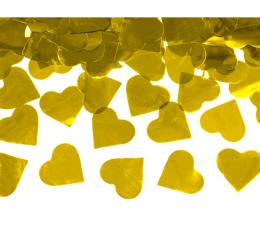 """Konfettī plaukšķene """"Zelta sirdis"""" (60 cm)"""