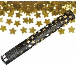 """Konfettī plaukšķene """"Zelta zvaigznes"""" (40 cm)"""