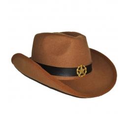 Kovboju cepure / brūna (1 gab.)