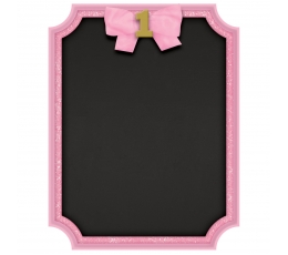 """Krītpapīra tāfele """"1-ā dzimšanas diena"""", rozā"""