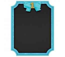 """Krītpapīra tāfele """"1ā dzimšanas diena"""", zila"""