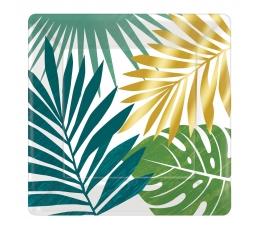 "Kvadrādtaini šķīvīši ""Zelta palmas"" (8 gab/17 cm)"
