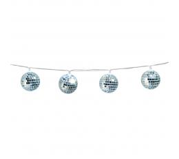 "LED gaismiņu virtene ""Disko bumbas"""