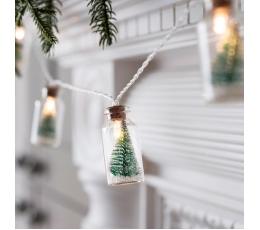 """LED gaismiņu virtene """"Ziemassvētku pudelītes"""" (2 x 4cm x 110cm)"""