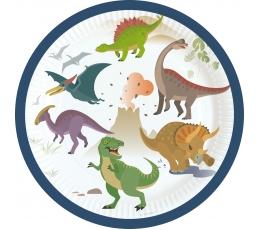 """Šķīvīši """"Dinozauri"""" (8 gab./17 cm)"""