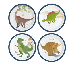 """Šķīvīši """"Dinozauri"""" (8 gab. / 22 cm)"""