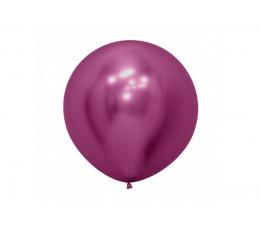 Liels balons, metalizēts aveņkrāsas (30cm)