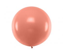 Liels balons, roza - zelta krāsā (1m)