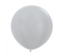Liels balons, sudraba (60 cm)