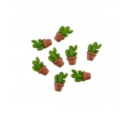"""Līmējami 3D rotājumi """"Kaktusi"""" (8 gab./ 3 cm)"""